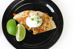 Quesadilla on a plate Royalty Free Stock Photography