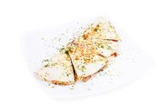 Quesadilla z mięsem i warzywami zdjęcie royalty free