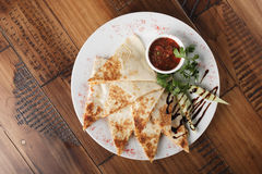 Quesadilla z wołowiną Zdjęcie Stock