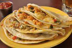 Quesadillas стейка и цыпленка Стоковые Фото
