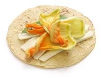 Quesadillas цветения сквоша, мексиканская еда Стоковая Фотография RF