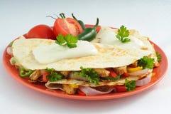 quesadillas цыпленка сыра Стоковое фото RF