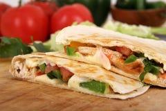 2 quesadillas цыпленка Стоковые Изображения RF