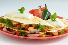 Quesadillas Stock Afbeelding