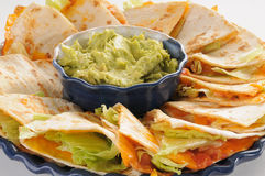 Quesadillas close up Stock Photos