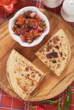 Quesadillas with fresh salsa Royalty Free Stock Photo