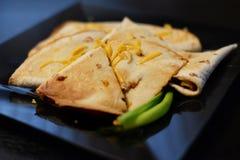 Quesadillas mexicanos em casa Fotos de Stock Royalty Free