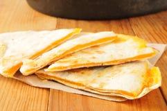Quesadille del formaggio Fotografia Stock