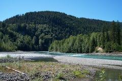 Driving the Alaska Alcan Highway Royalty Free Stock Image