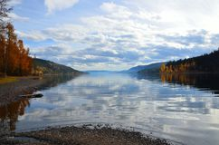 Quesnel Lake in fall Stock Images