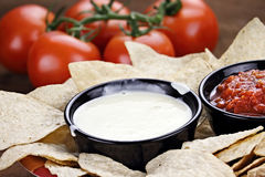 Queso Blanco White Cheese Sauce Royalty Free Stock Images