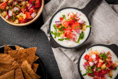 Free Queso Blanco With Baked Tortilla Chips Royalty Free Stock Photography - 96211507