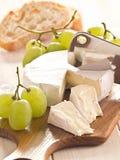 Queso con las uvas Imagen de archivo libre de regalías