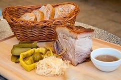 Queso de cerdo frito Imagen de archivo libre de regalías