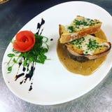 Queso de Fillett queso Gorgonzola mi cocinero superior de las capacidades creativas fotografía de archivo