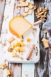 Queso de Gouda delicioso foto de archivo libre de regalías
