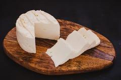 Queso de Queso Panela, queso mexicano de la comida, blanco y fresco en México foto de archivo