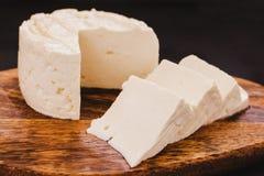 Queso de Queso Panela, queso mexicano de la comida, blanco y fresco en México imagenes de archivo