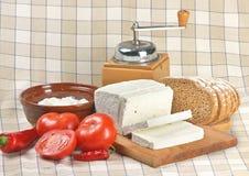 Queso de queso Feta Fotografía de archivo