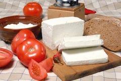 Queso de queso Feta Fotos de archivo