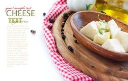 Queso de queso Feta fotos de archivo libres de regalías