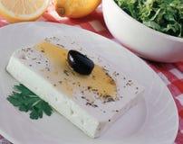 Queso de queso Feta. Fotos de archivo libres de regalías