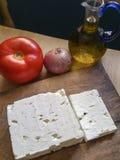 Queso de queso Feta griego Foto de archivo libre de regalías