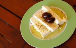 Queso de queso Feta griego tradicional Fotos de archivo
