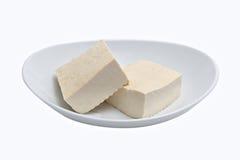 Queso de soja aislado en blanco imagen de archivo