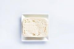 Queso de soja, bloque fresco de queso de soja Fotos de archivo