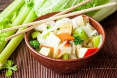 Queso de soja con las verduras Imagen de archivo libre de regalías