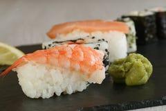 Queso de soja con wasabi Fotografía de archivo