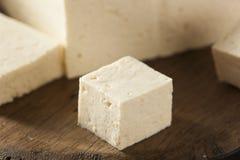 Queso de soja crudo orgánico de la soja Foto de archivo