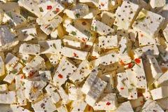 Queso de soja en adobo Foto de archivo libre de regalías