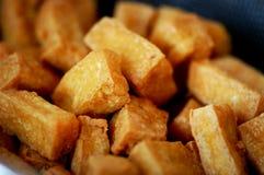 Queso de soja frito Imagen de archivo libre de regalías