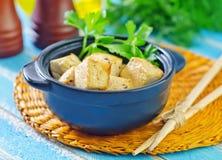 Queso de soja frito Foto de archivo libre de regalías