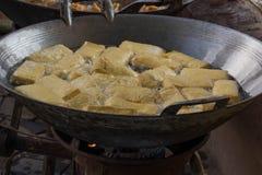 Queso de soja frito Foto de archivo