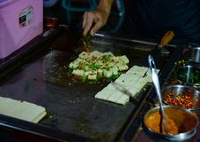 Queso de soja frito Kunming de Yunnan fotos de archivo libres de regalías