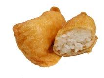 Queso de soja y arroz fritos imagen de archivo libre de regalías