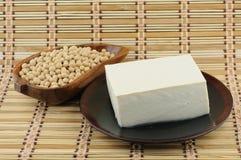 Queso de soja y soja Imagenes de archivo