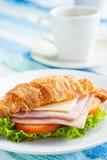 Queso del jamón del Croissant Fotos de archivo