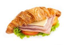 Queso del jamón del Croissant Fotografía de archivo