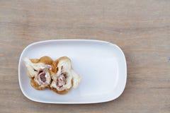 Queso del jamón del pan Fotos de archivo