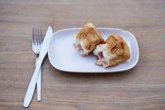 Queso del jamón del pan Imagen de archivo libre de regalías