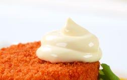 Queso empanado frito Imagen de archivo libre de regalías