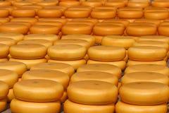 Queso en mercado Imagen de archivo libre de regalías