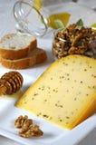 Queso francés con las alcaravea-semillas Fotografía de archivo