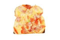 Queso sabroso en tostada Foto de archivo
