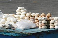 Queso seco nacional en el contador Imagen de archivo libre de regalías