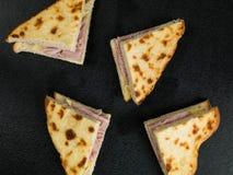 Queso y Ham Toasted Bread Sandwich Imagen de archivo